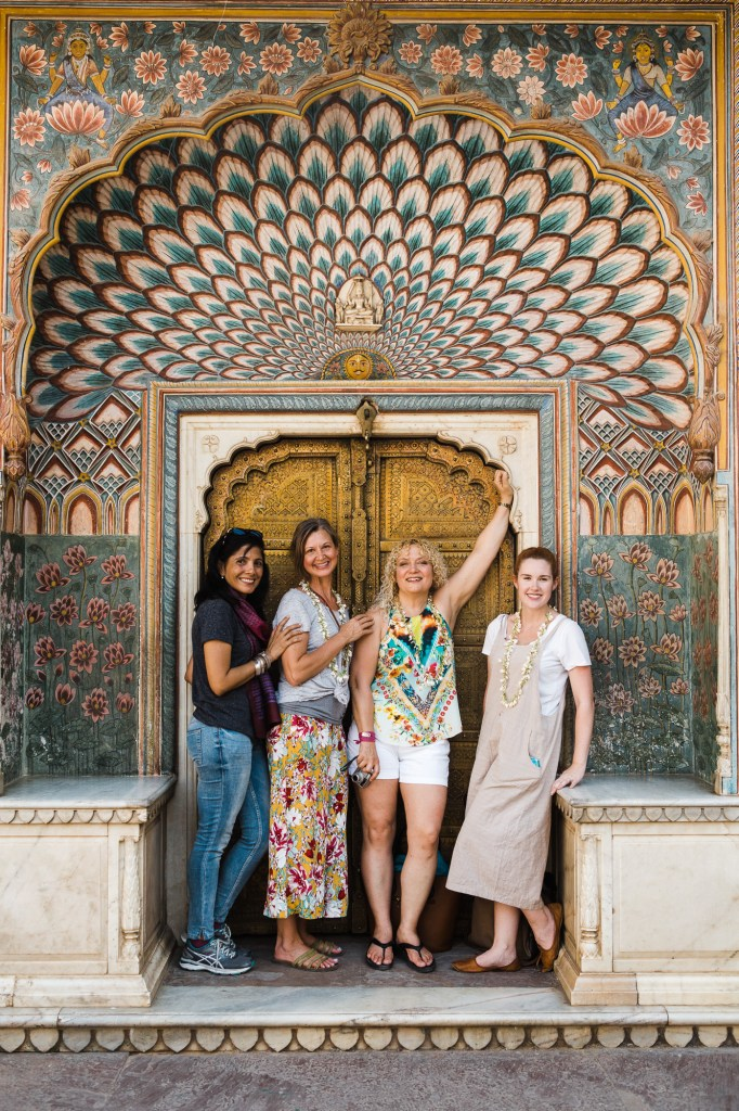 CulturallyOurs -Creative travel retreat to Jaipur City Palace summer gate portrait