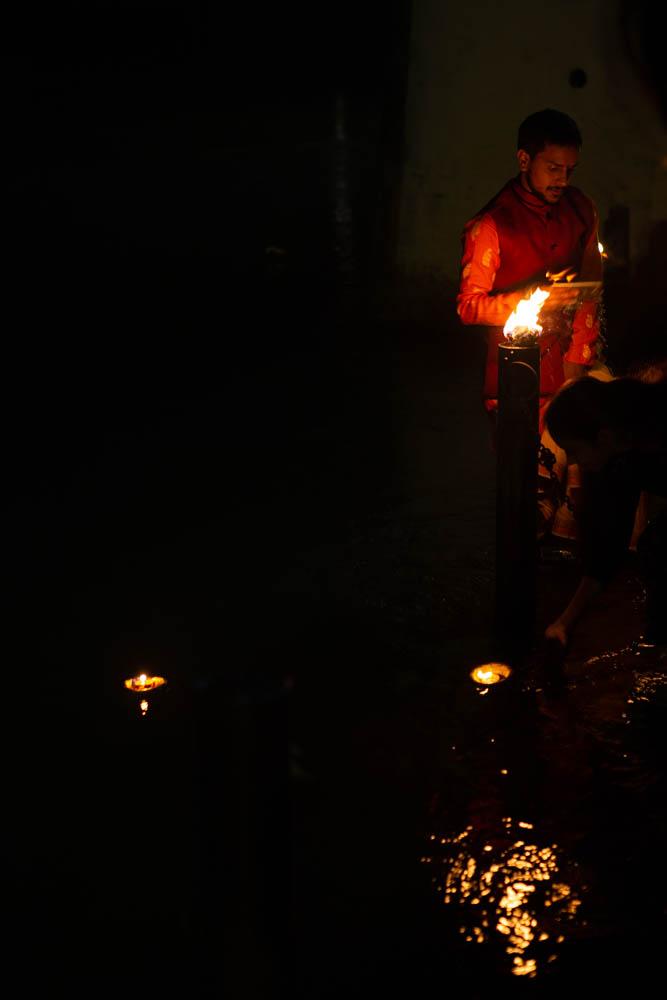 Beautiful oil lamps during Ganga Aarti at Rishikesh India CulturallyOurs
