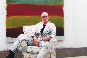 Sean Scully in his studio