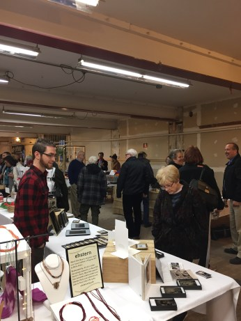Vendors and shoppers at the Made in Kingston event
