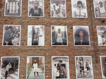 Newburg portraits on bldg