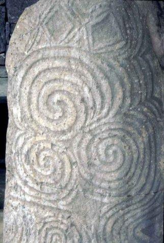 Stone carving at Newgrange..ciirca 5,000 BC