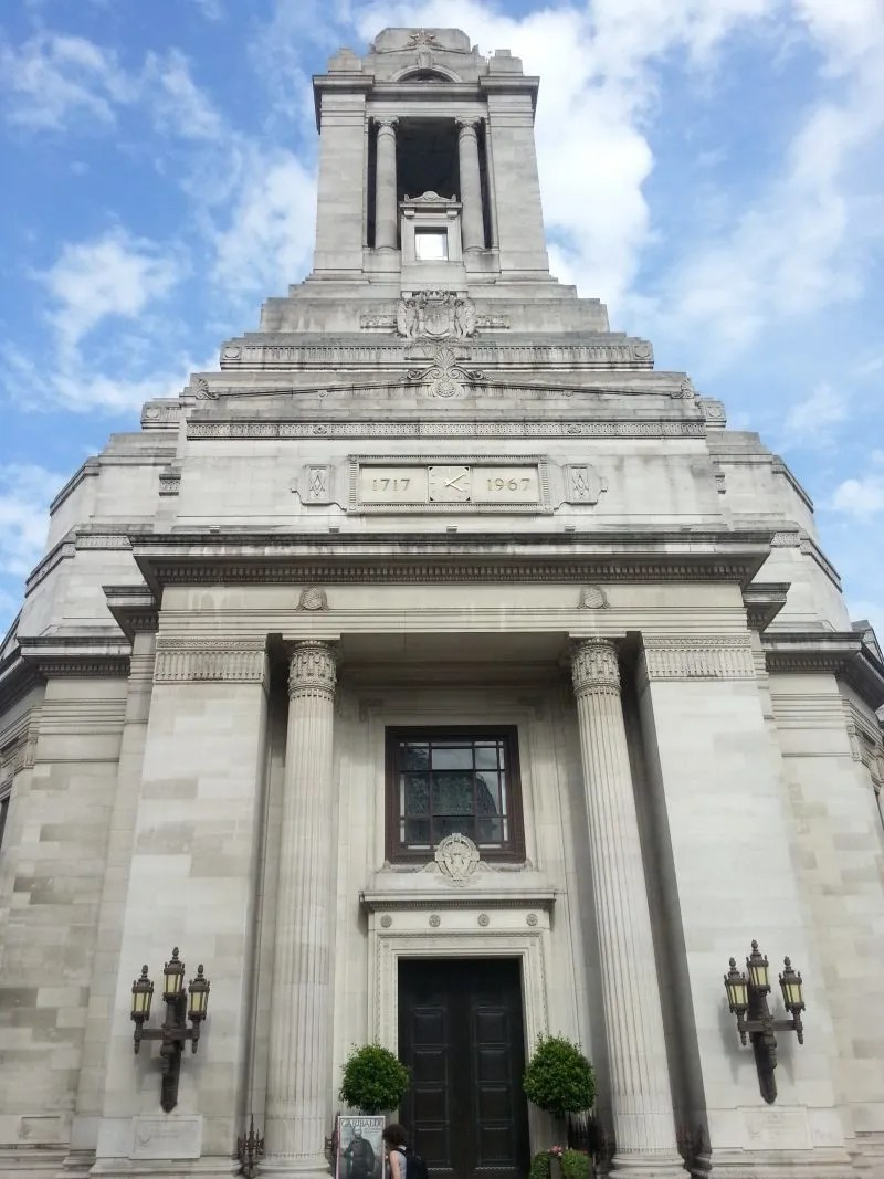 Art Deco facade Freemasons Hall