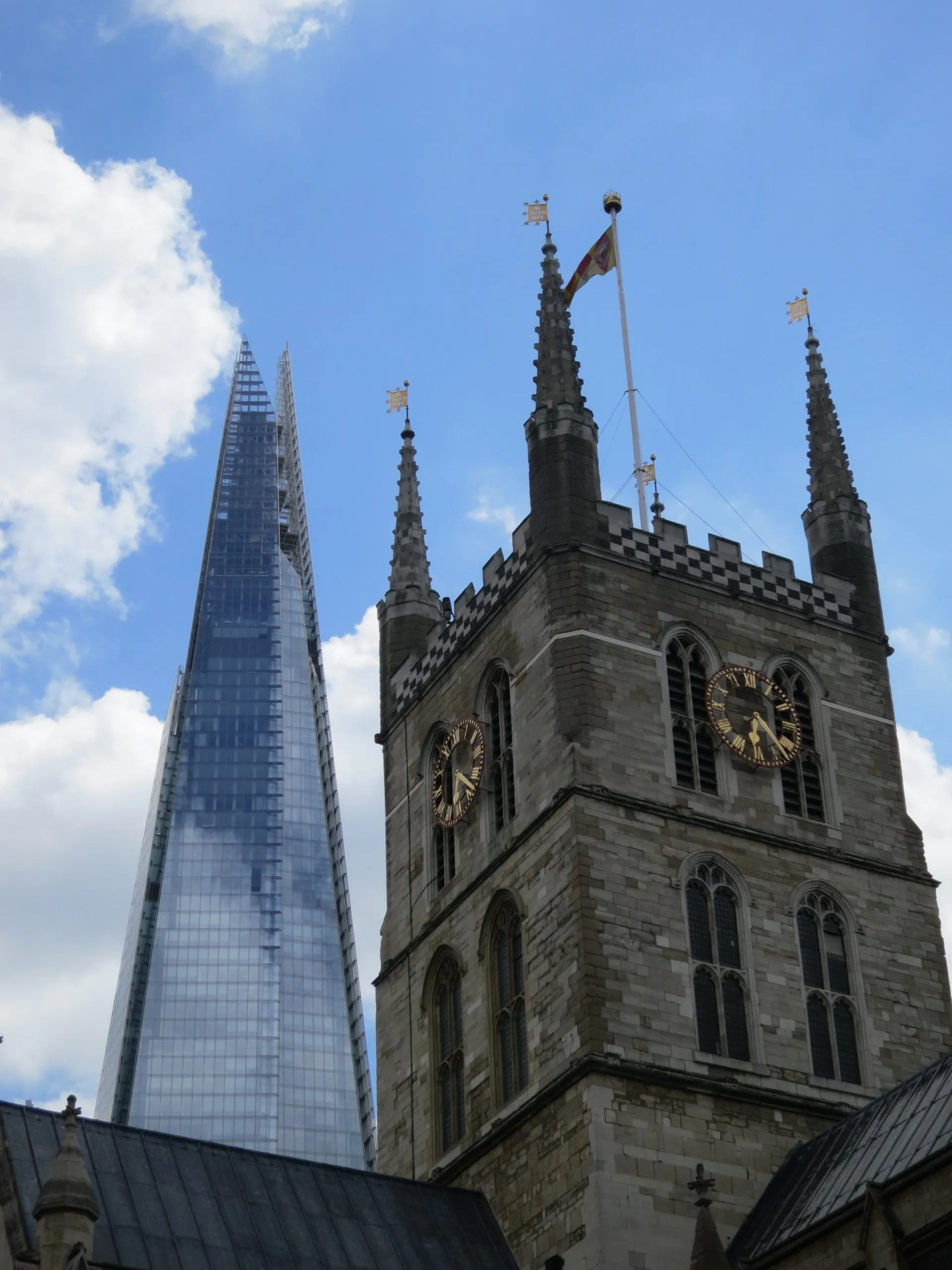 Southwark Cathedral Shard