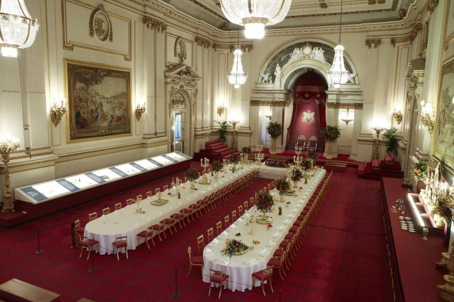 The Ballroom at Buckingham Palace prepared for a State Banquet Royal Collection Trust © Her Majesty Queen Elizabeth II, 2015