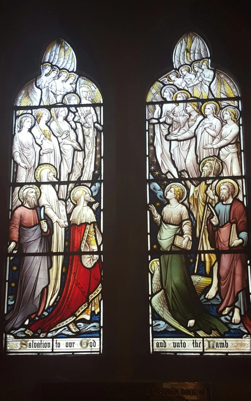 Angels stained glass Banstead