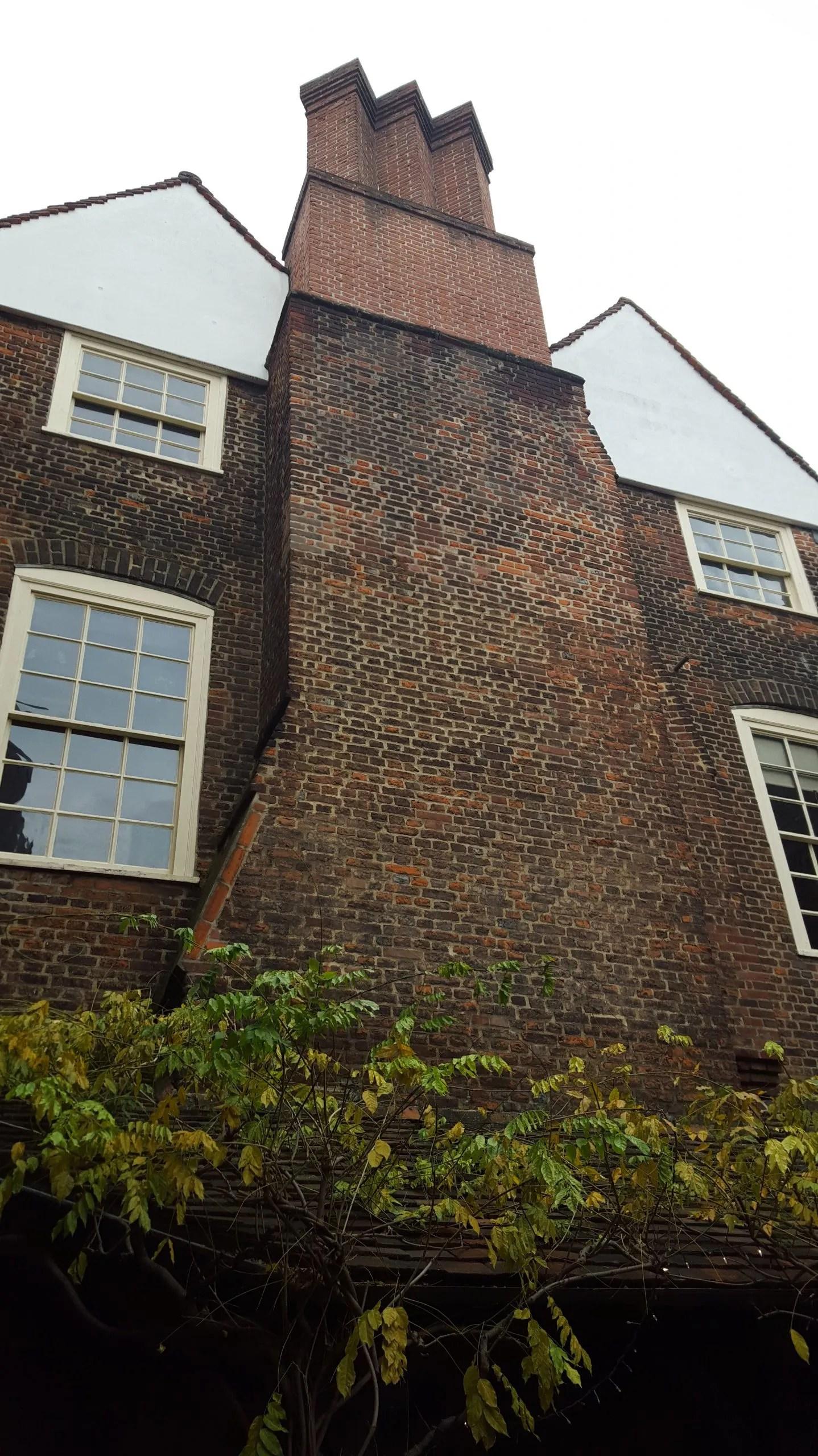 Sutton House Tudor brick chimney, Hackney's oldest house