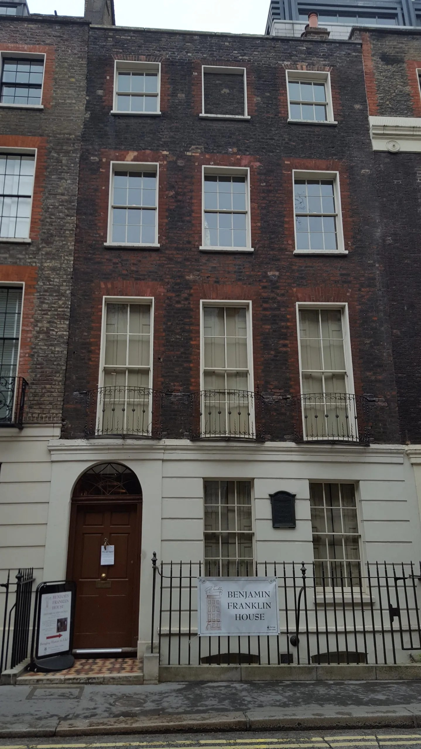 Benjamin Franklin House four storey Georgian house where Benjamin Franklin lived in London