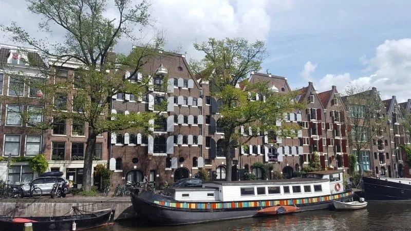 Amsterdam canal houseboat