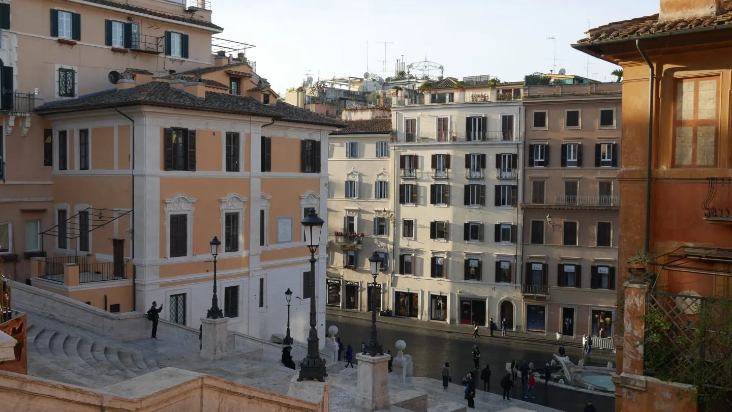 View of Landmark Trust Spanish Steps.