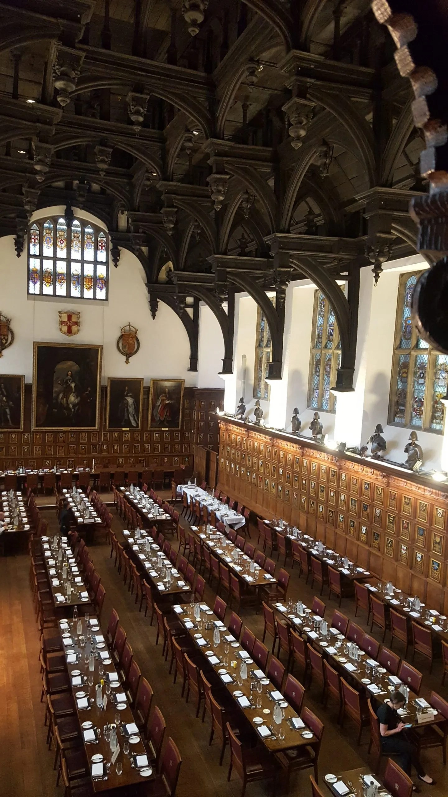 Middle Temple hall dining