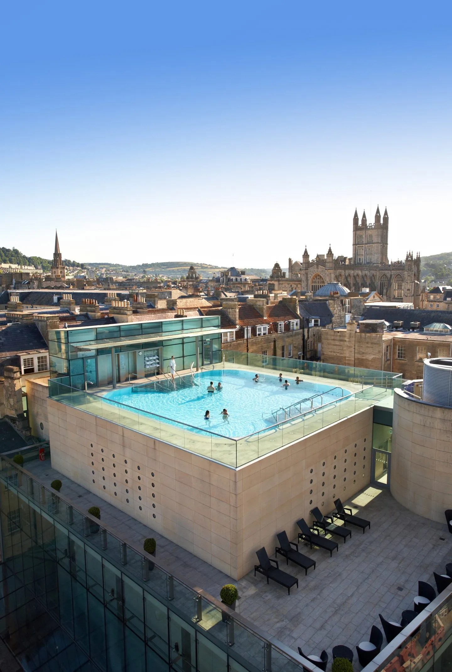 Thermae Bath Spa exterior Roof top pool
