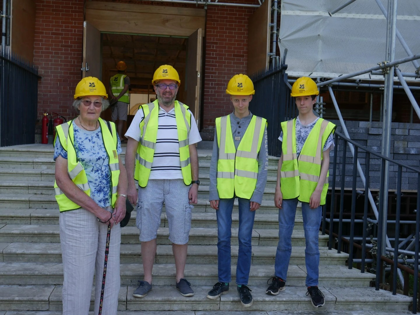 Visiting Clandon Park after the fire Hard hats