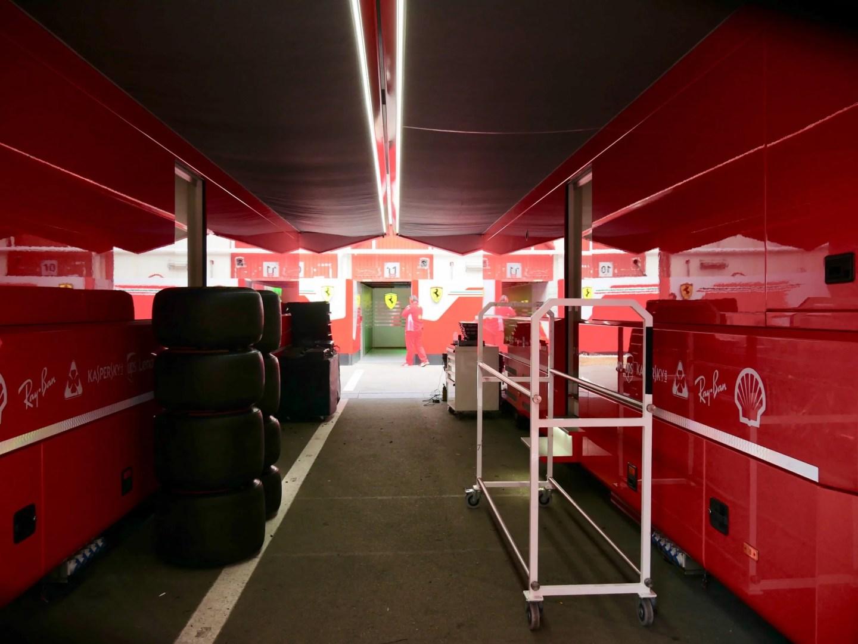 Ferrari F1 Paddock pits