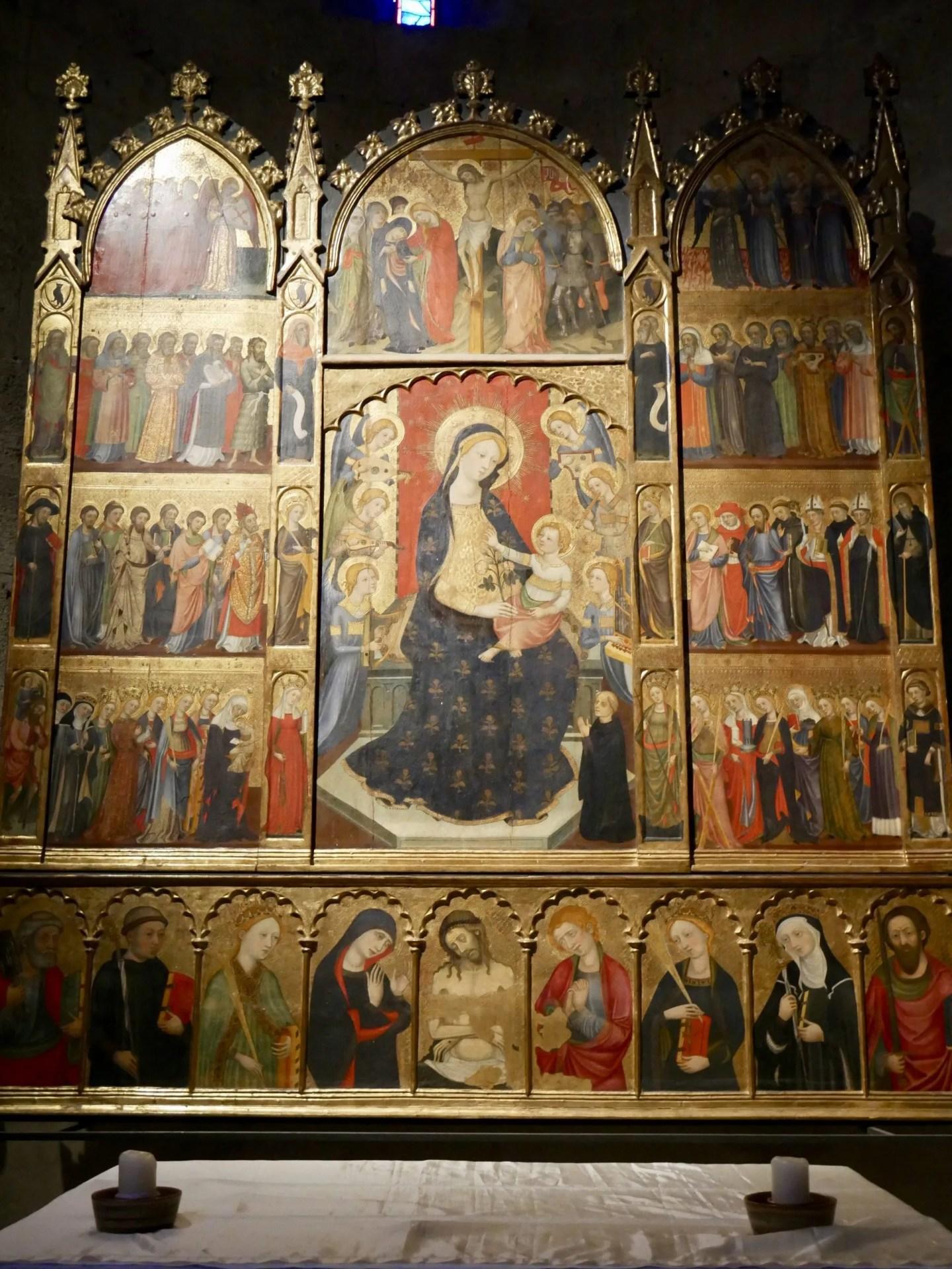 Pere Serra Altarpiece Sant Cugat