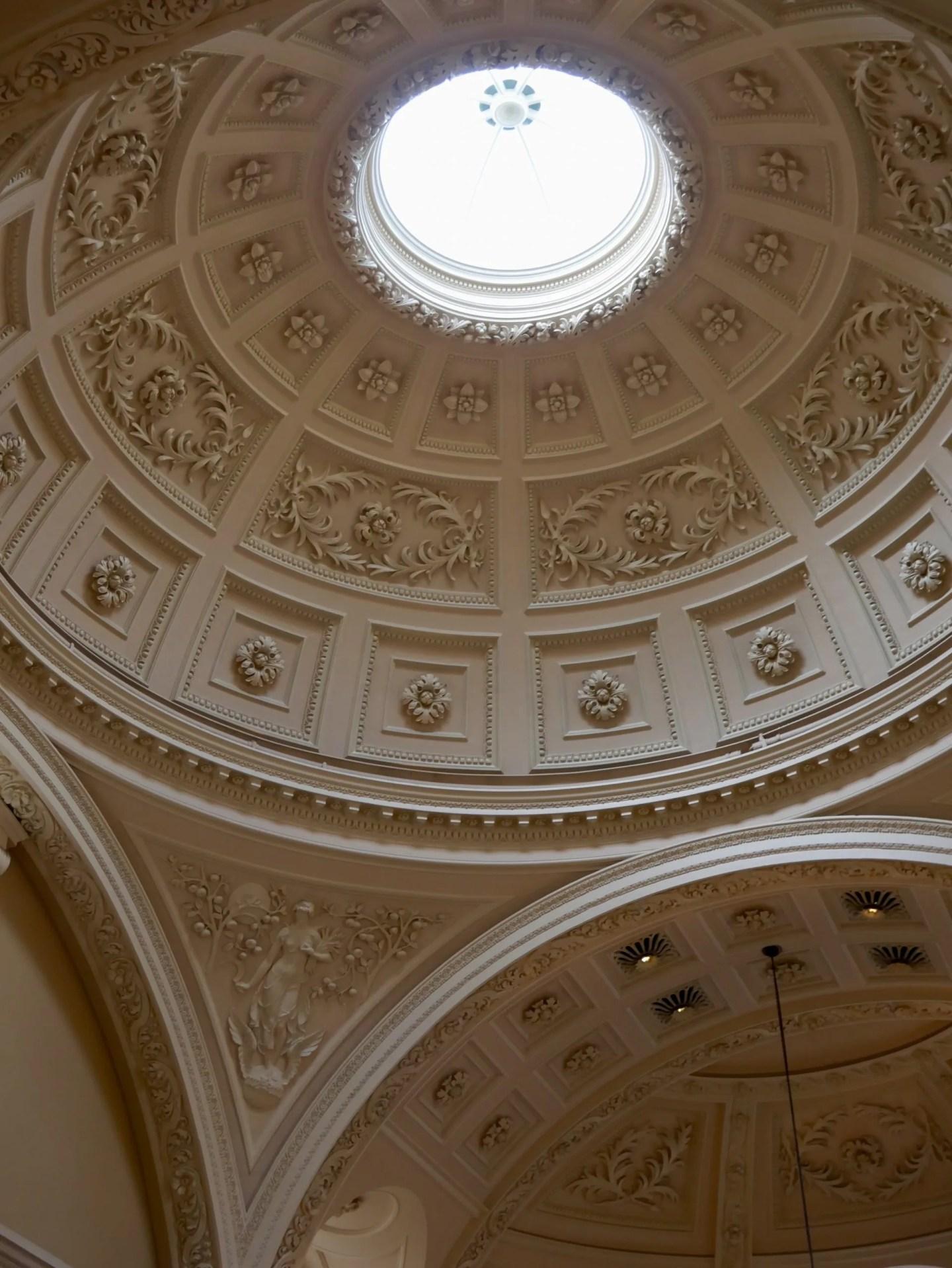 Bath Roman baths entrance ceiliing