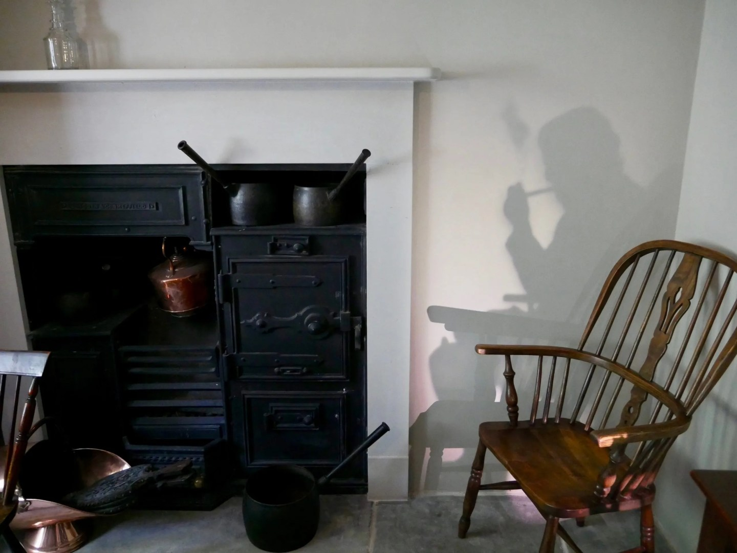 Shadow of Turner's father in Turner's House Kitchen