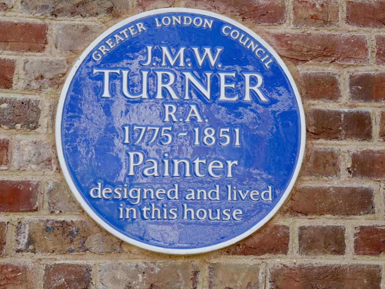 J M W Turner Blue Plaque