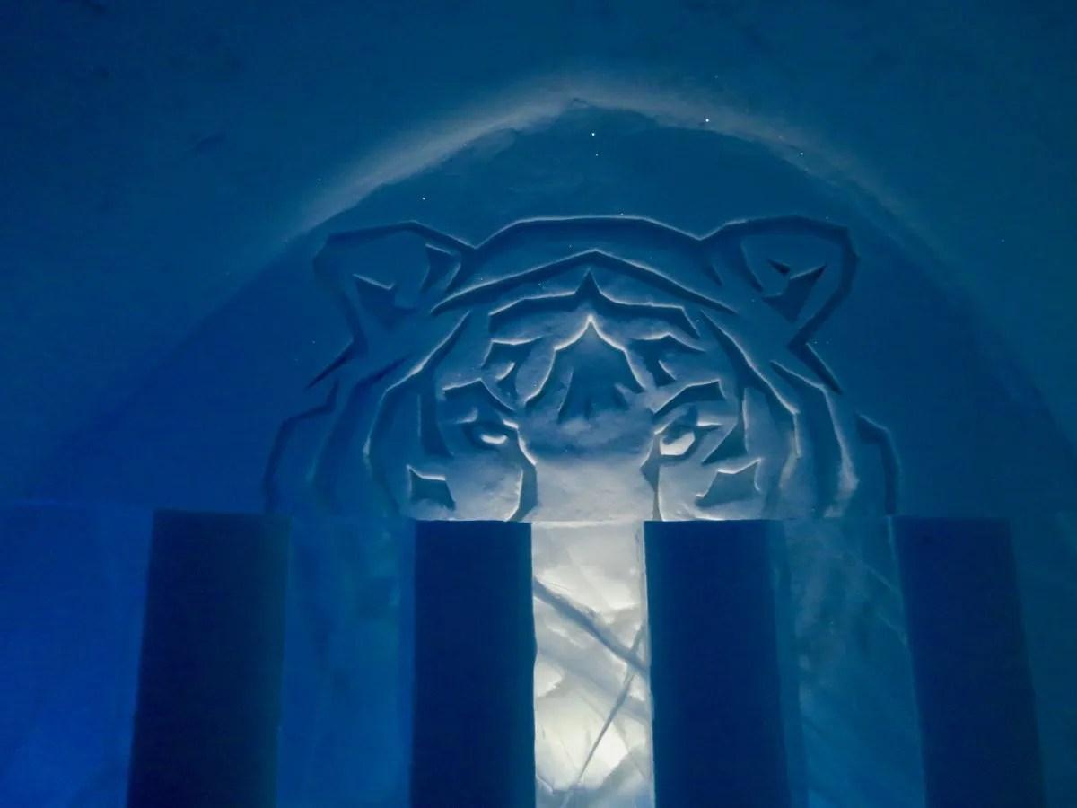 Tiger bedroom IceHotel Sweden