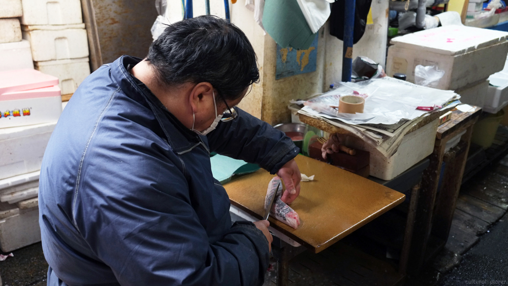 Tsukiji Cutting Fish