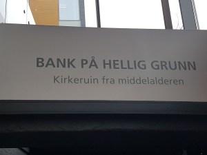 Er Olavskirkeruinen i bankbygget? Foto: Siri Wolland
