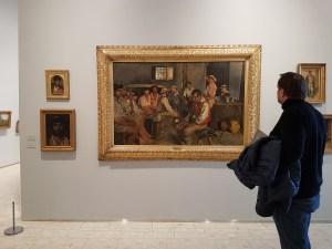 "Eilif Peterssen (1852-1928) ""Siesta i et osteria, Sora"", 1880. Foto fra utstillingen: Siri Wolland"