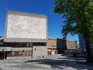 Y-blokka idag. Inspirert av FN bygningene i New York og UNESCO bygningen i Paris. Foto: Siri Wolland