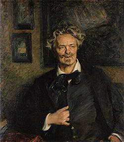 August Strindberg, malt av Richard Bergh, 1906. Wikiped