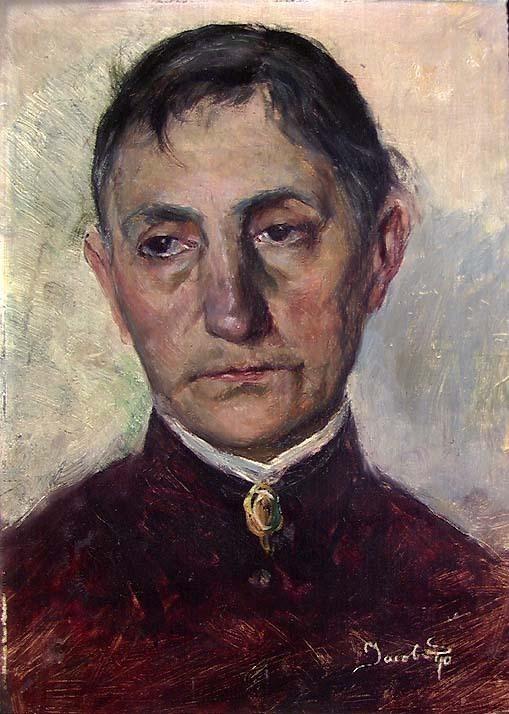 1890. Johanne Kielland Sømme, kunstnerens mor av Jacob Kielland Sømme/Nasjonalmuseet. Falt i det fri (Public domain)