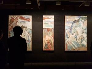 Edvard Munch. Stormen, 1926-27. Foto fra utstillingen: Siri Wolland