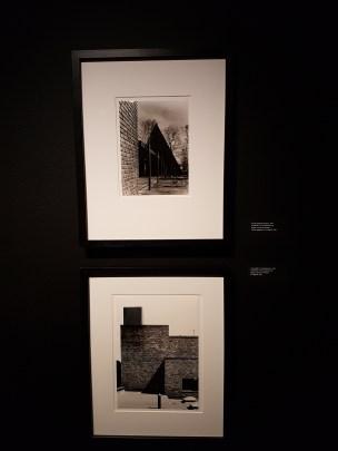 Bjørn Winsnes, Norsk Sjøfartsmuseum, 1961 og Aust-Agder sentralsykehus, 1967. Arkitekter: Trond Eliassen og Birger Lambertz-Nilssen. Foto fra utstillingen: Siri Wolland.