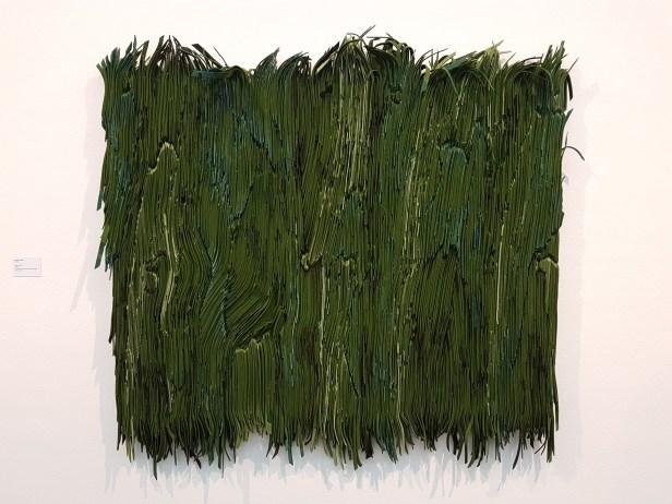 Marianne Moe (f.1975), Grønn Tavle, 2015. Foto fra utstillingen: Siri Wolland.