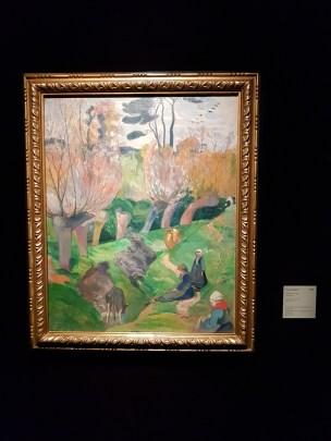 Paul Gauguin, Landskap fra Bretagne, 1889. Olje på lerret. Foto fra utstillingen: Siri Wolland.