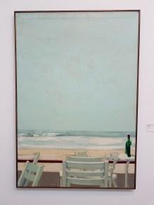 Anders Kjær (1949), Ved stranden - til Neil Young, 1990. Foto fra utstillingen: Siri Wolland.