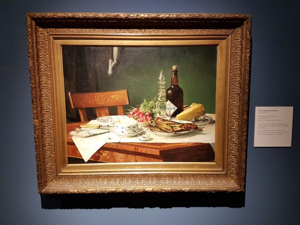 Oluf August Hermansen (Dansk maler,1849-1897), A Breakfast Table, 1884. Foto fra utstillingen: Siri Wolland.