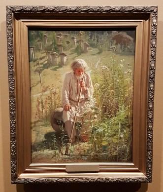 Ivan Kramskoj, Birøkter, 1872. Foto fra utstillingen; Siri Wolland.