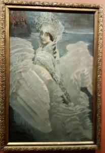 Mikhail Vrubel, Svaneprinsessen, 1900. Foto fra utstillingen; Siri Wolland.