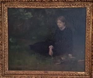 Anna Ancher, I det grønne, 1884. Foto fra utstillingen; Siri Wolland.
