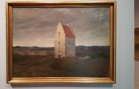 Johannes Wilhjelm, Skagens gamle kirke. Nat. 1910. Foto fra utstillingen; Siri Wolland.