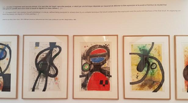 Foundation Maeght i St Paul de Vance, og utstillingen Joan Miró. Au-delà de la peinture. Foto fra utstillingen Siri Wolland.