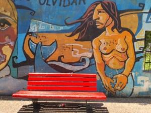 Politisk grafitti! La Boca, fargerik bydel i Buenos Aires. Foto Siri Wolland.