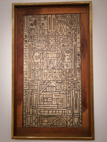 Joaquin Torres Garcia (1874-1949), Composition symétrique universelle. Foto fra utstillingen Siri Wolland.