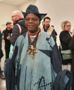 Romuald Hazoumè fra Benin. Foto fra utstillingen Siri Wolland.