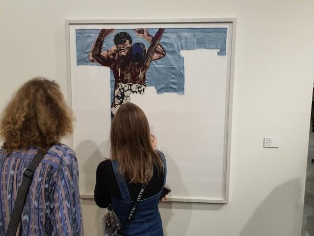 Billie Zangewa, Disarming mars, 2010. Foto fra utstillingen Siri Wolland.