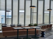Arbeidsplasser i Deichman Bjørvika, av arkitektene Lund Hagem og Atelier Oslo, 2020. Foto Siri Wolland.