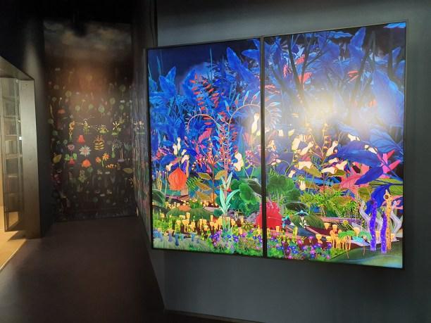 Talking plants, Simone Hooymans, 2020. Deichman Bjørvika, av arkitektene Lund Hagem og Atelier Oslo, 2020. Foto Siri Wolland.