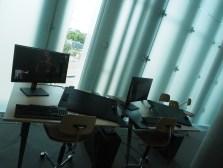 Verksted og arbeidsplasser i Deichman Bjørvika, av arkitektene Lund Hagem og Atelier Oslo, 2020. Foto Siri Wolland.