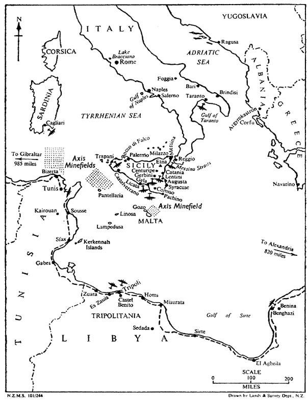 Mappa operativa del Mediterraneo orientale