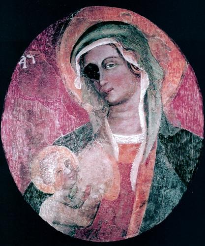 Icona miracolosa della Madonna della Grazia (fine sec. XIV - inizi sec. XV), custodita e venerata presso l'omonimo Santuario di Galatone (foto F. Danieli)
