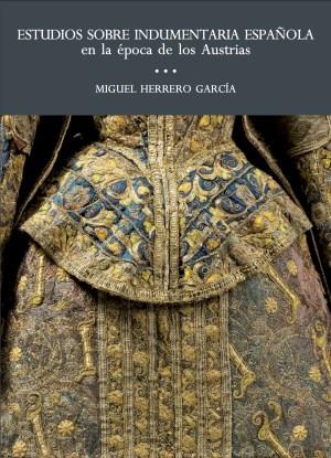 Portada del libro con un detalle de la parte trasera de un vestido brocado con hilos de oro
